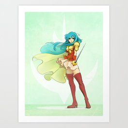 Battling Princess Art Print