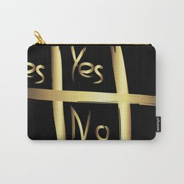 Tic Tac Toe - Yes or No Carry-All Pouch