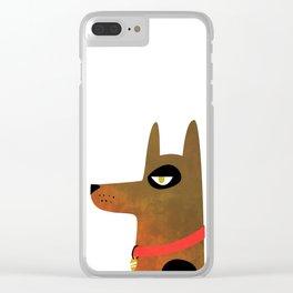 Pinscher Dog Clear iPhone Case