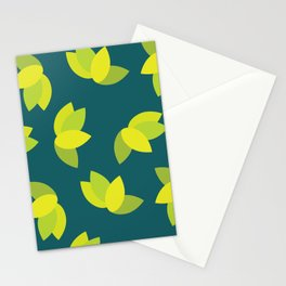 Geometric Leaves Stationery Cards