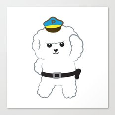 Animal police - Bichon Frisé Canvas Print