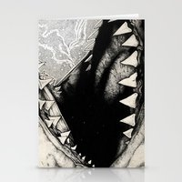 jaws Stationery Cards featuring Jaws by Sinpiggyhead