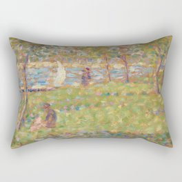"Study for ""La Grande Jatte"" Rectangular Pillow"