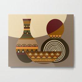 African Gourd Metal Print