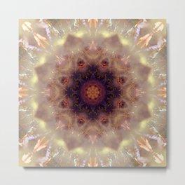 Mystical Mountain Mandala Abstract Design Metal Print