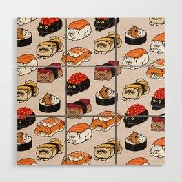 Sushi Persian Cat Wood Wall Art