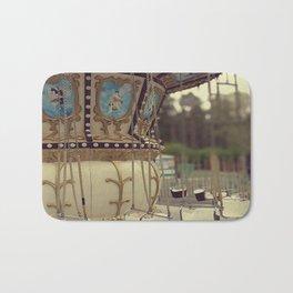 Carousel in the amusement park Bath Mat