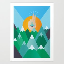 Sunset On Wisdom Art Print