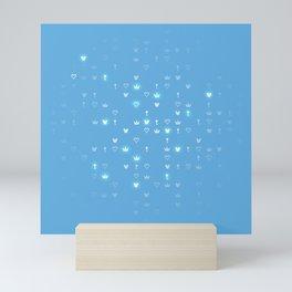 Kingdom Hearts Blue Pattern Mini Art Print