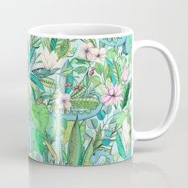 Improbable Botanical with Dinosaurs - soft pastels Coffee Mug
