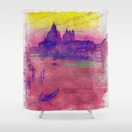 Venezia Canal Grande - SKETCH-ART Shower Curtain