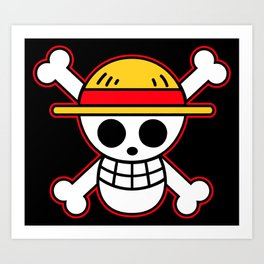 Straw hat Flag Art Print