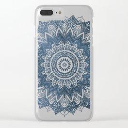 BOHOCHIC MANDALA IN BLUE Clear iPhone Case