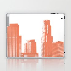 downtown Los Angeles skyline print, coral Laptop & iPad Skin