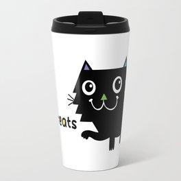 Eat, Sleep, Kitty Treats  Travel Mug