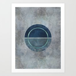 Magic Blue Circle Art Print