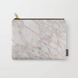 White Marble Carrara Calacatta Carry-All Pouch