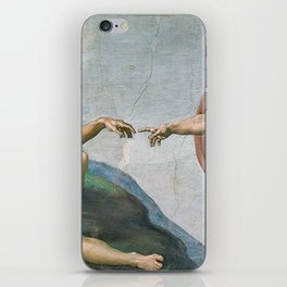 Creation of Adam – Sistine Chapel by Michelangelo iPhone Skin