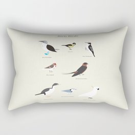Dirty Birds Rectangular Pillow