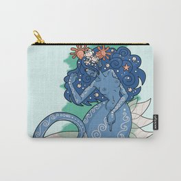 Mermaid Grabs Back Carry-All Pouch