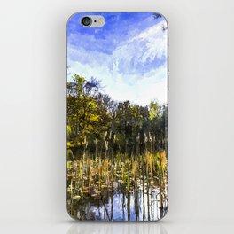 The Bulrush Pond Art iPhone Skin