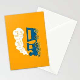 I Think I Can, I Think I Can, I Think I Can - The Little Engine that Could inspired Print Stationery Cards