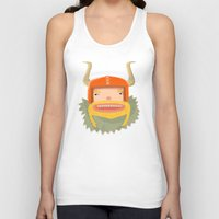 viking Tank Tops featuring Viking  by POWW