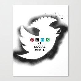 PUNK YOUR SOCIAL MEDIA Canvas Print