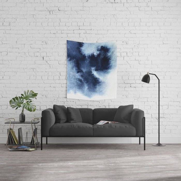 Indigo Nebula Wall Tapestry