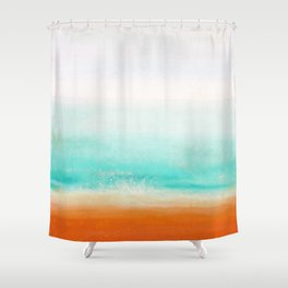 Waves and memories 02 Shower Curtain
