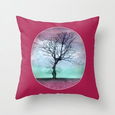 ATMOSPHERIC TREE - Winter Sun Throw Pillow