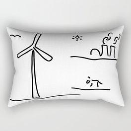 new energy environment Rectangular Pillow