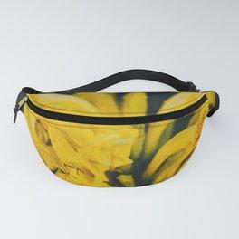 Beautiful yellow flower on black background - Botanical Photography #Society6 Fanny Pack