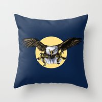 eagle Throw Pillows featuring Eagle by Anna Shell