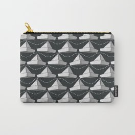 Paper Hats Pattern | Black and White Carry-All Pouch