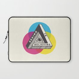 Seeing is Believing Laptop Sleeve