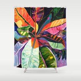 Kauai Croton Leaves Shower Curtain