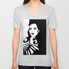 Black and White Beauty Unisex V-Neck