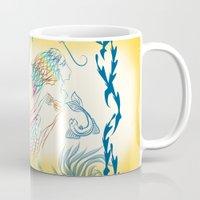 mermaid Mugs featuring Mermaid by famenxt