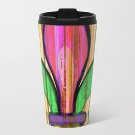 Fleur De Lis Stripe Travel Mug