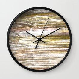 Beaver abstract watercolor Wall Clock