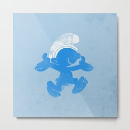 KRAZY BLUE Metal Print
