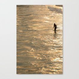 A step into the golden hour Canvas Print