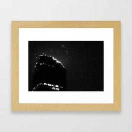 Like a moth to a flame. (Melbourne, 2011) Framed Art Print