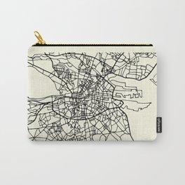 DUBLIN Ireland City Street Map Carry-All Pouch