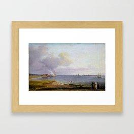 Johan Christian Dahl View over Øresund Framed Art Print