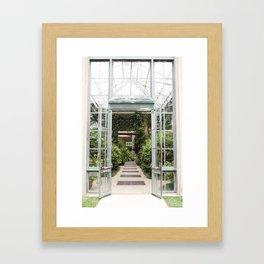 Conservatory Doors Framed Art Print