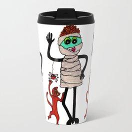 Mummy with Cat Travel Mug