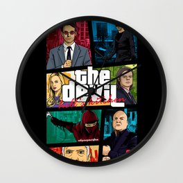 MASHUP GTA THE DEVIL Wall Clock
