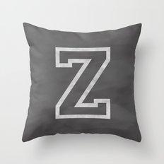 Letter Z Throw Pillow